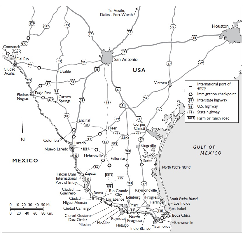 PHOTOGRAPHS Immigration Checkpoints In Texas Map on immigration map of texas, immigration checkpoints in california, mexican immigration texas map, el paso to fort hancock tx map, german immigration to texas map, airports in texas map, military bases in texas map,